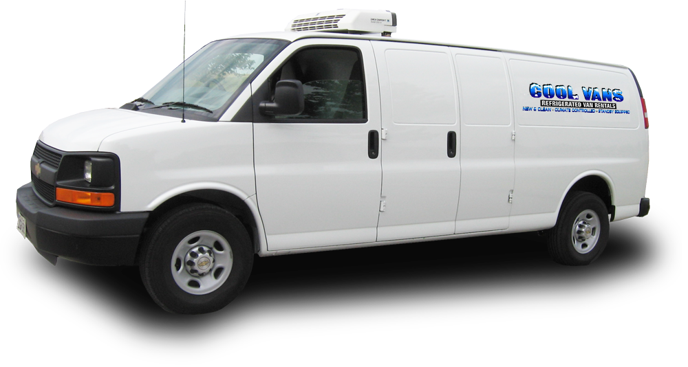 A new model refrigerated van carrying climate sensitive produce